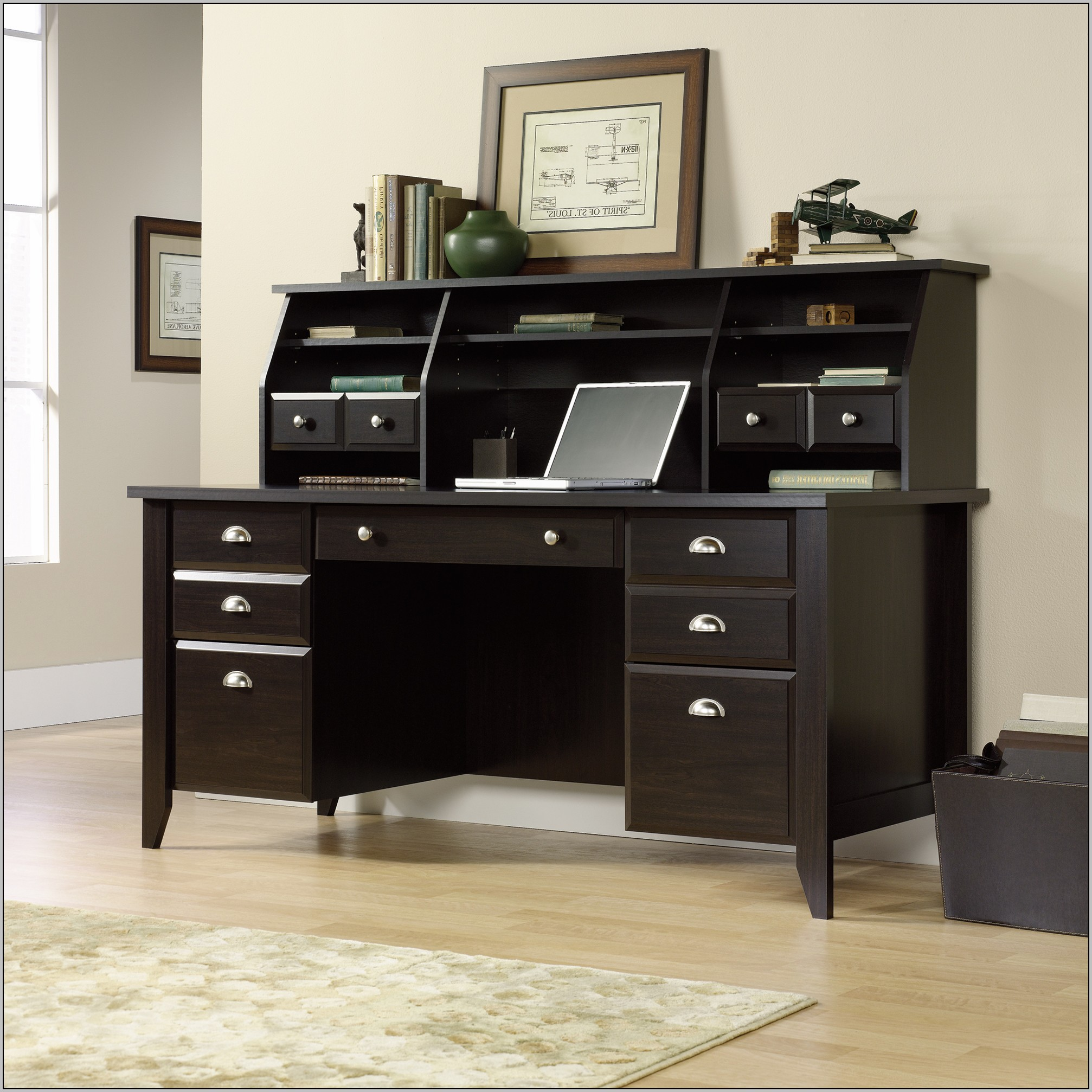 Sauder Shoal Creek Executive Desk Jamocha