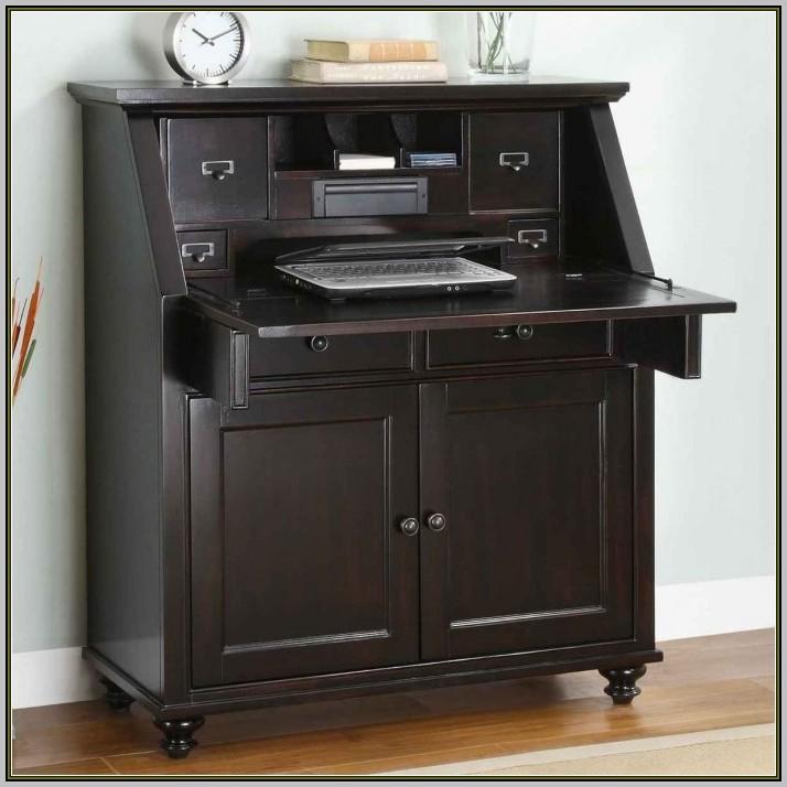 Secretary Desk With Filing Cabinet