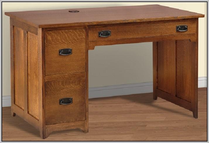 Single Pedestal Desk Cherry