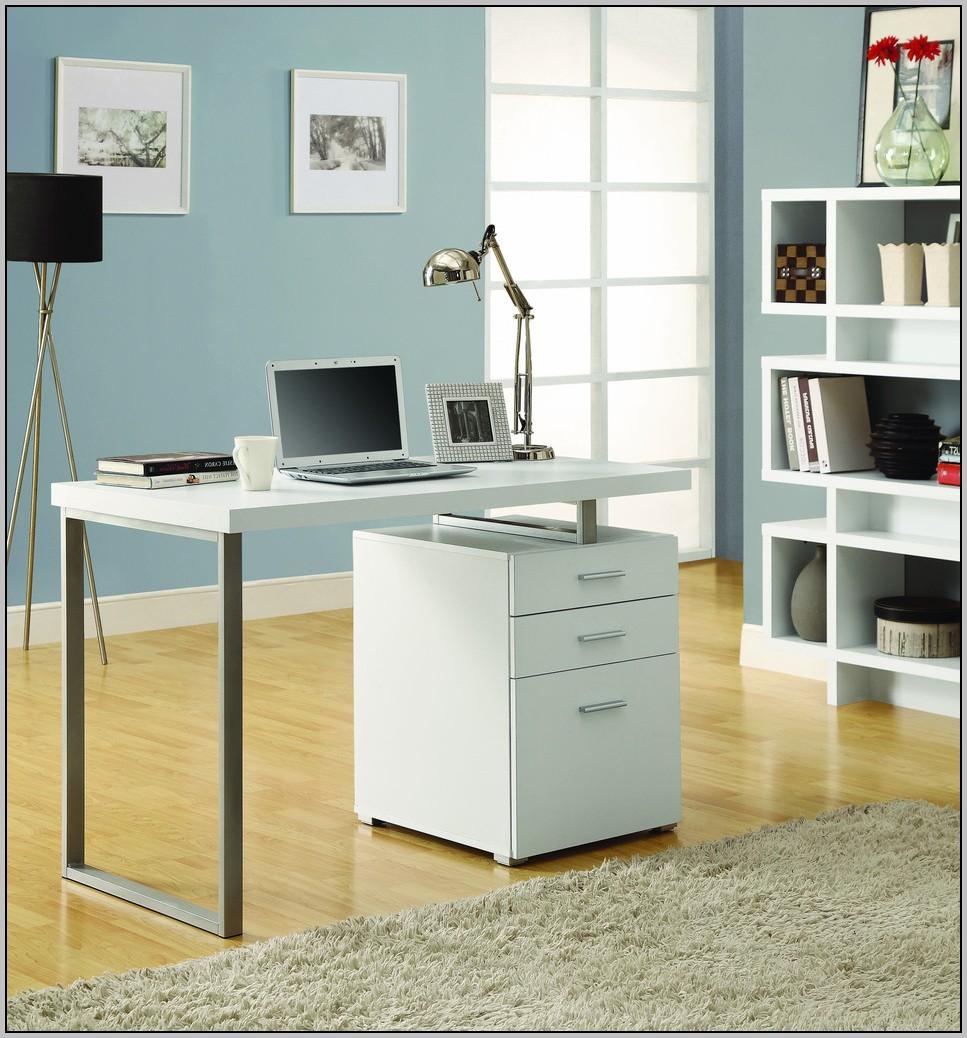 Single Pedestal Desk White