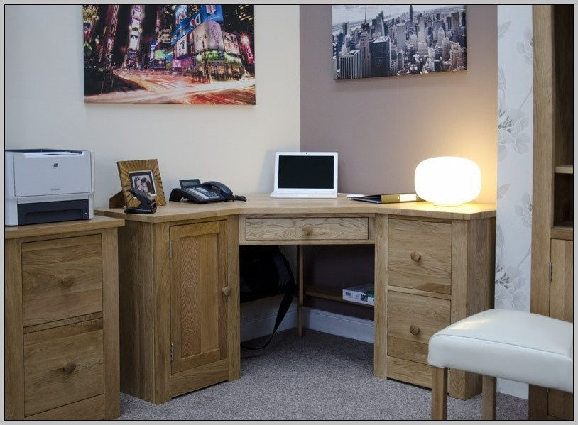 Solid Wood Corner Office Desk