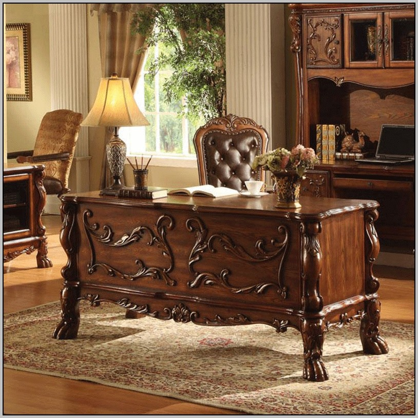 Solid Wood Executive Office Desk