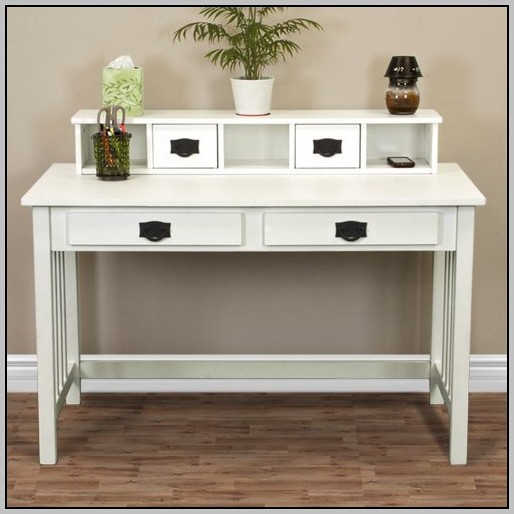 Solid Wood White Writing Desk