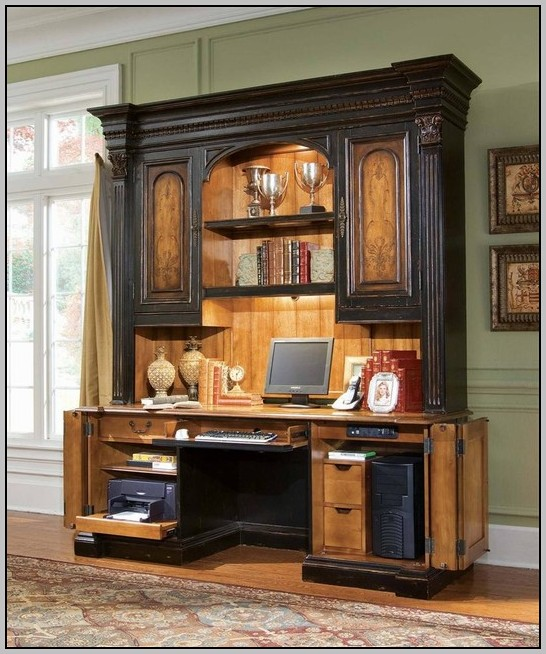 Tall Computer Desk With Hutch