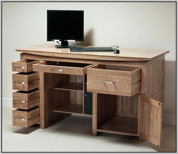 Tall Computer Desk With Storage
