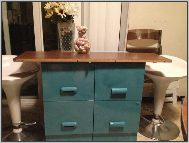Under Table File Cabinet