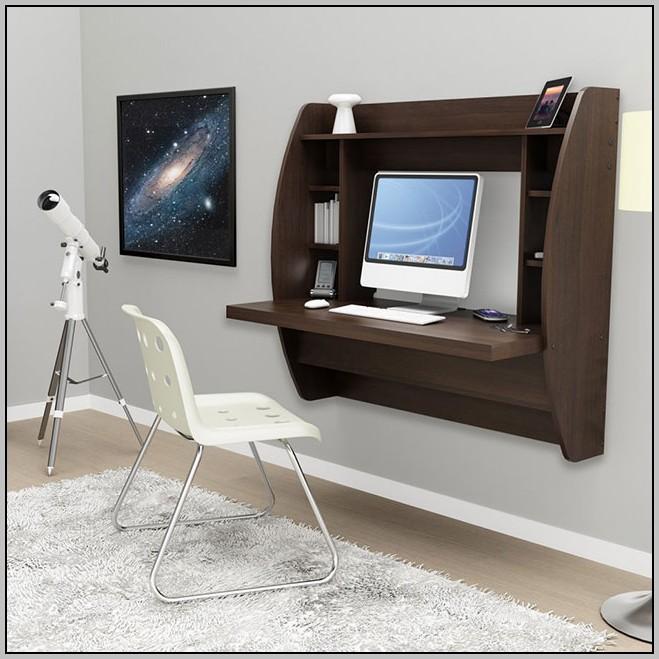 Wall Mount Laptop Desk White