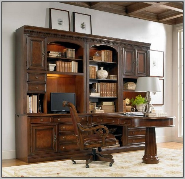 Wall Unit Desk Bookcase
