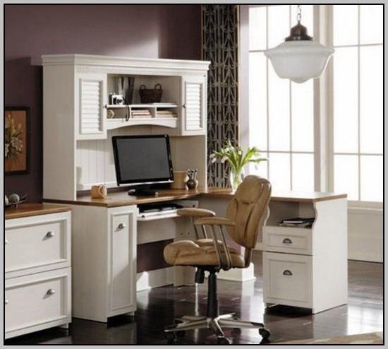 White Corner Desk With Hutch Melbourne