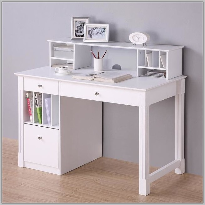 White Corner Desks With Hutch