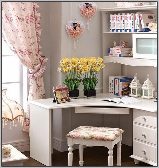 White Corner Desks With Storage