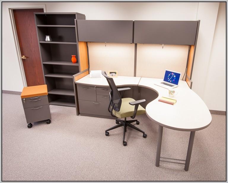 White Modular Desk System