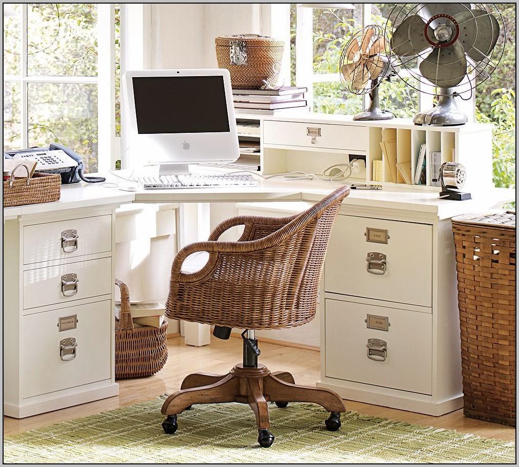 White Wood Corner Desk With Hutch
