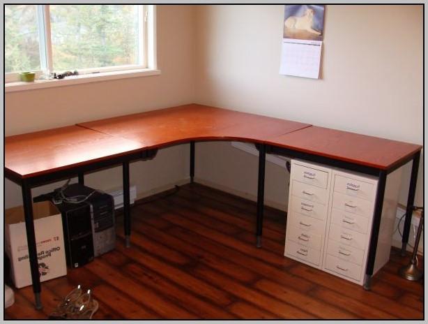 Wood Corner Desk