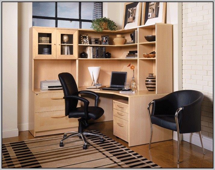 Wood Corner Desktop Shelf