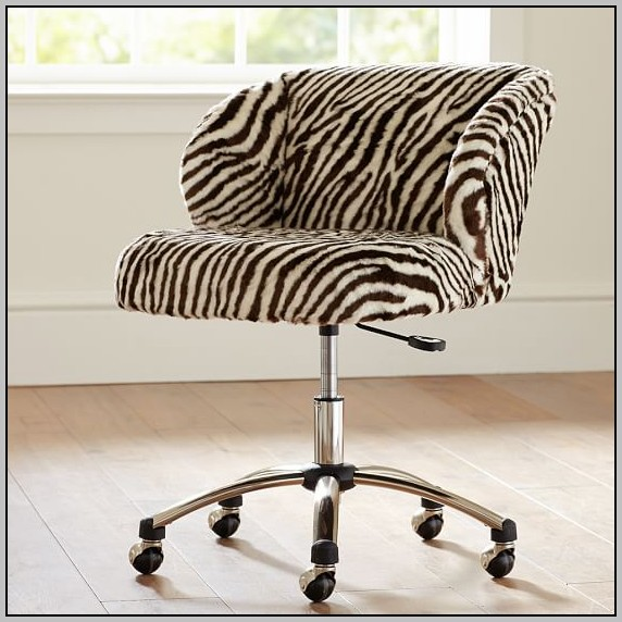 Zebra Desk Chair Cushion