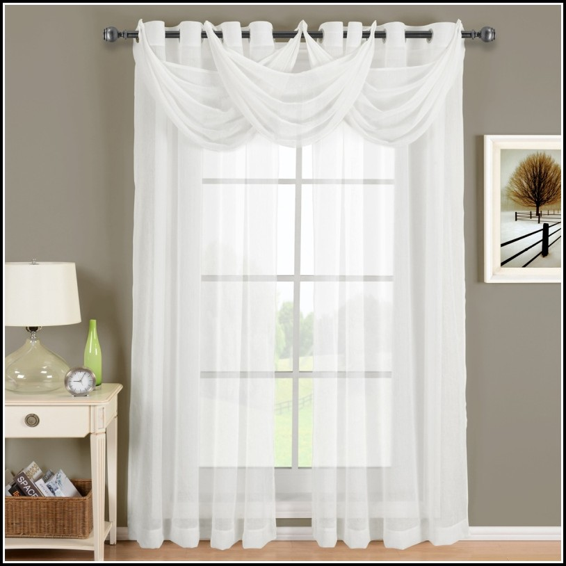 63 Inch Grommet Sheer Curtains