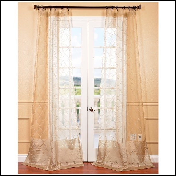 96 Inch White Sheer Curtains