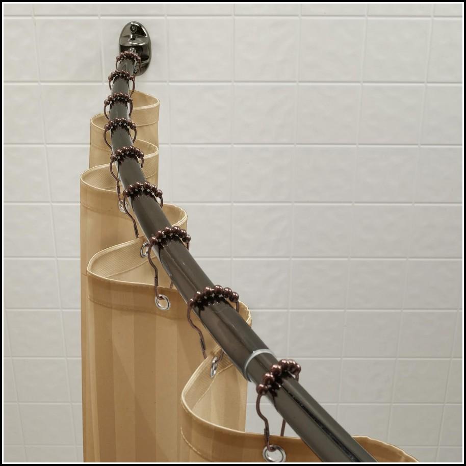 Bathroom Curtain Rods Curved