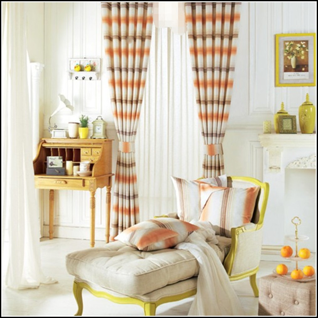 Black And Burnt Orange Curtains