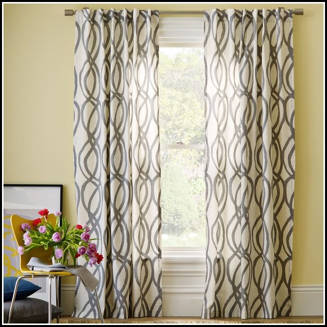 Black And Gray Bedroom Curtains
