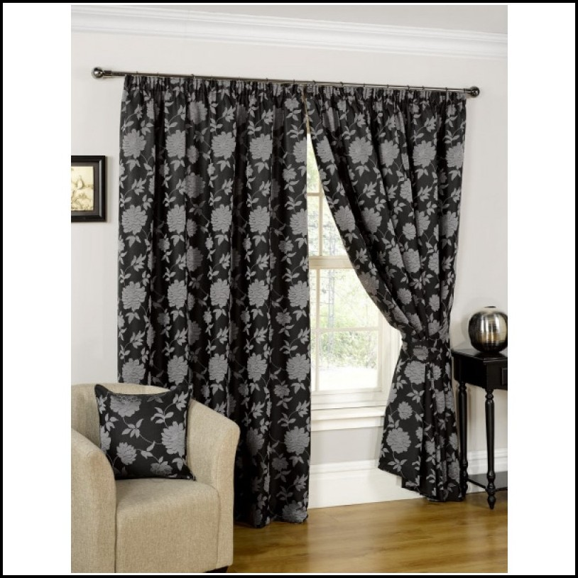 Black And Silver Curtains Eyelet