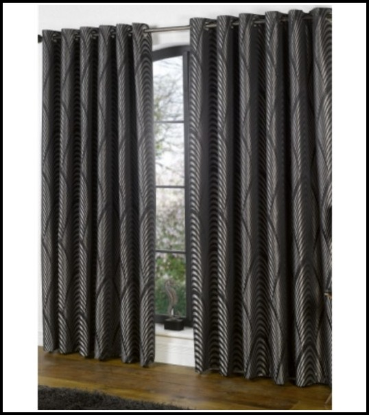 Black And Silver Curtains Next