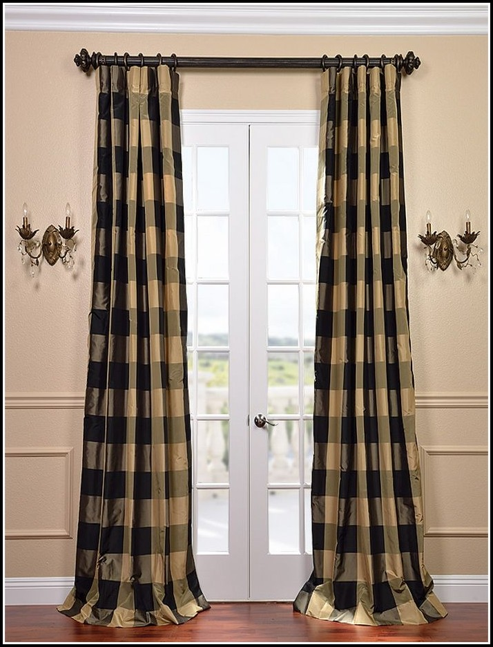 Black And White Checkered Curtain Panels