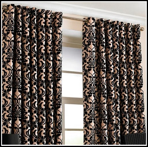 Black White And Gold Curtains