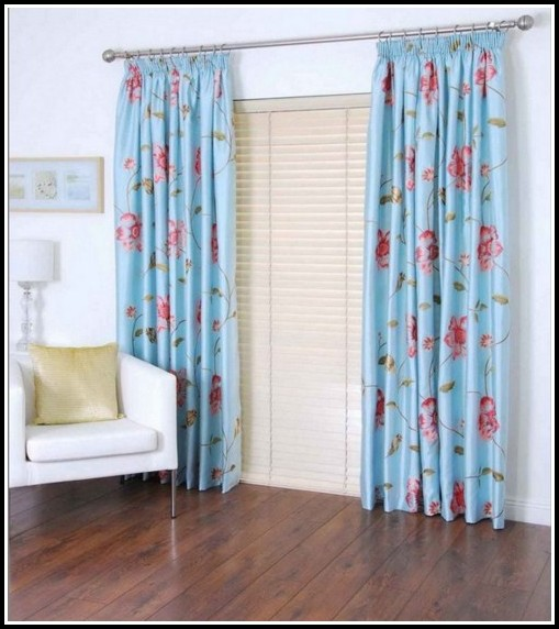 Blue And Red Striped Curtains