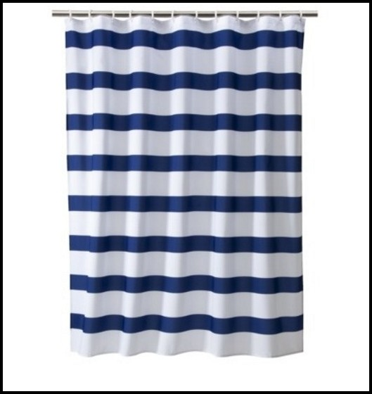 Blue And White Striped Curtains Bedroom