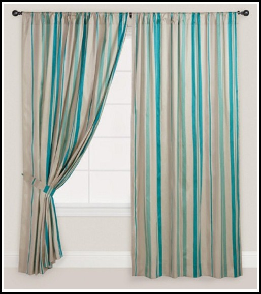 Blue And White Striped Curtains Target