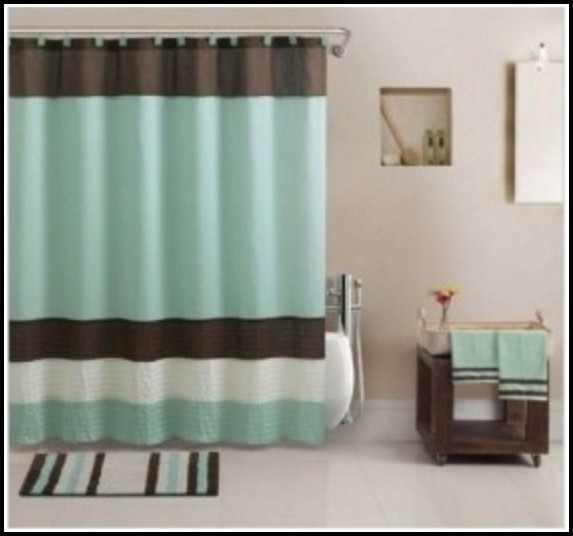 Blue And White Striped Shower Curtains