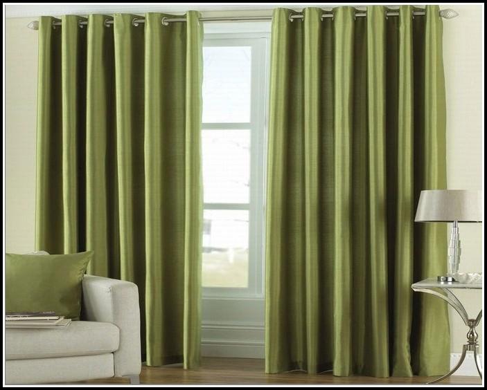 Bright Green Curtain Panels