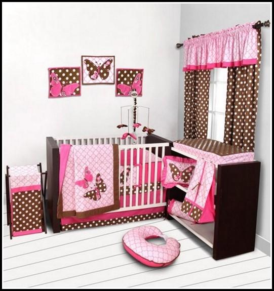 Brown And Pink Polka Dot Curtains
