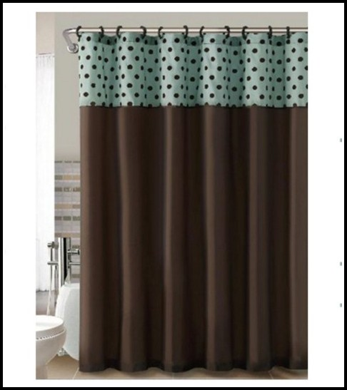 Brown And Teal Shower Curtains