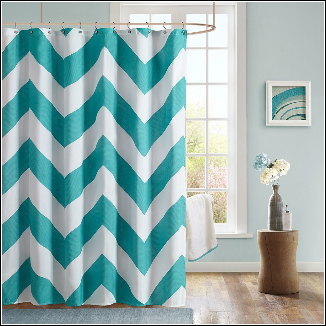 Brown Cream And Teal Curtains