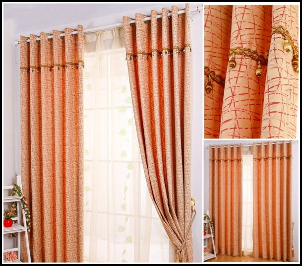 Burnt Orange And Beige Curtains
