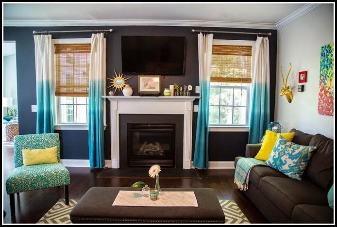Dark Brown Curtains Living Room