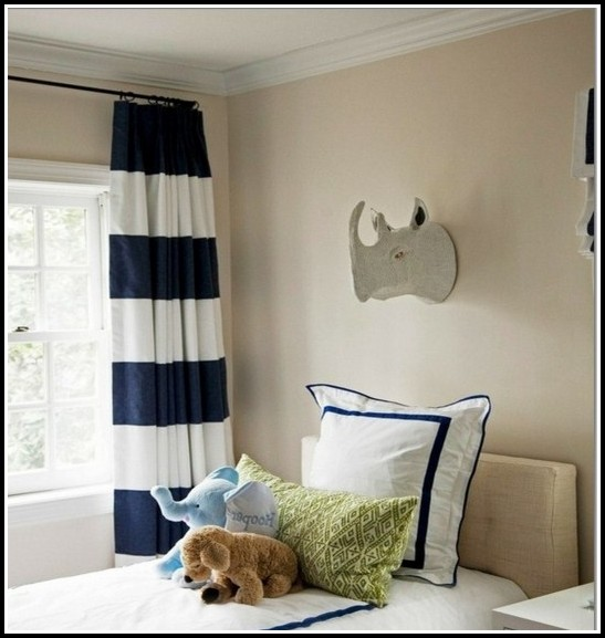 Diy Navy And White Striped Curtains