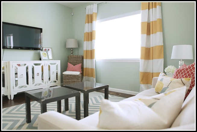 Gray White And Yellow Curtains