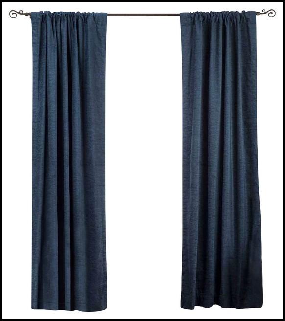 Ikea Navy Blue Velvet Curtains