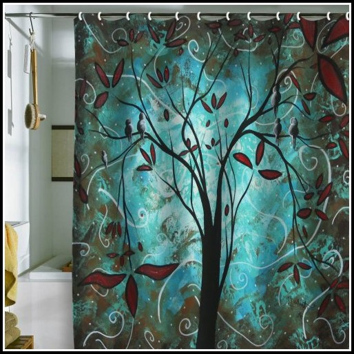 Next Brown And Teal Curtains