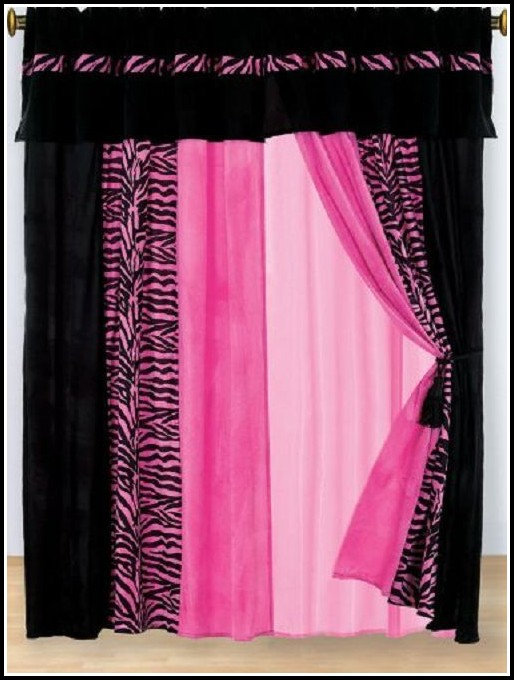 Pink And Black Zebra Curtains