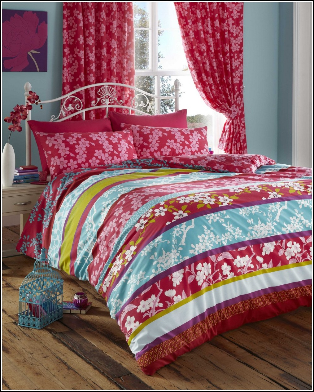 Purple Bedding And Curtains Sets