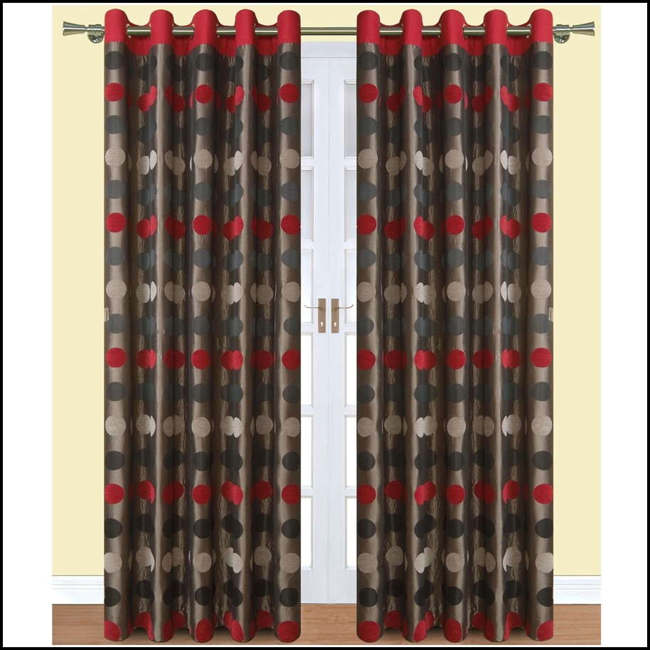 Red Black And Gray Curtains