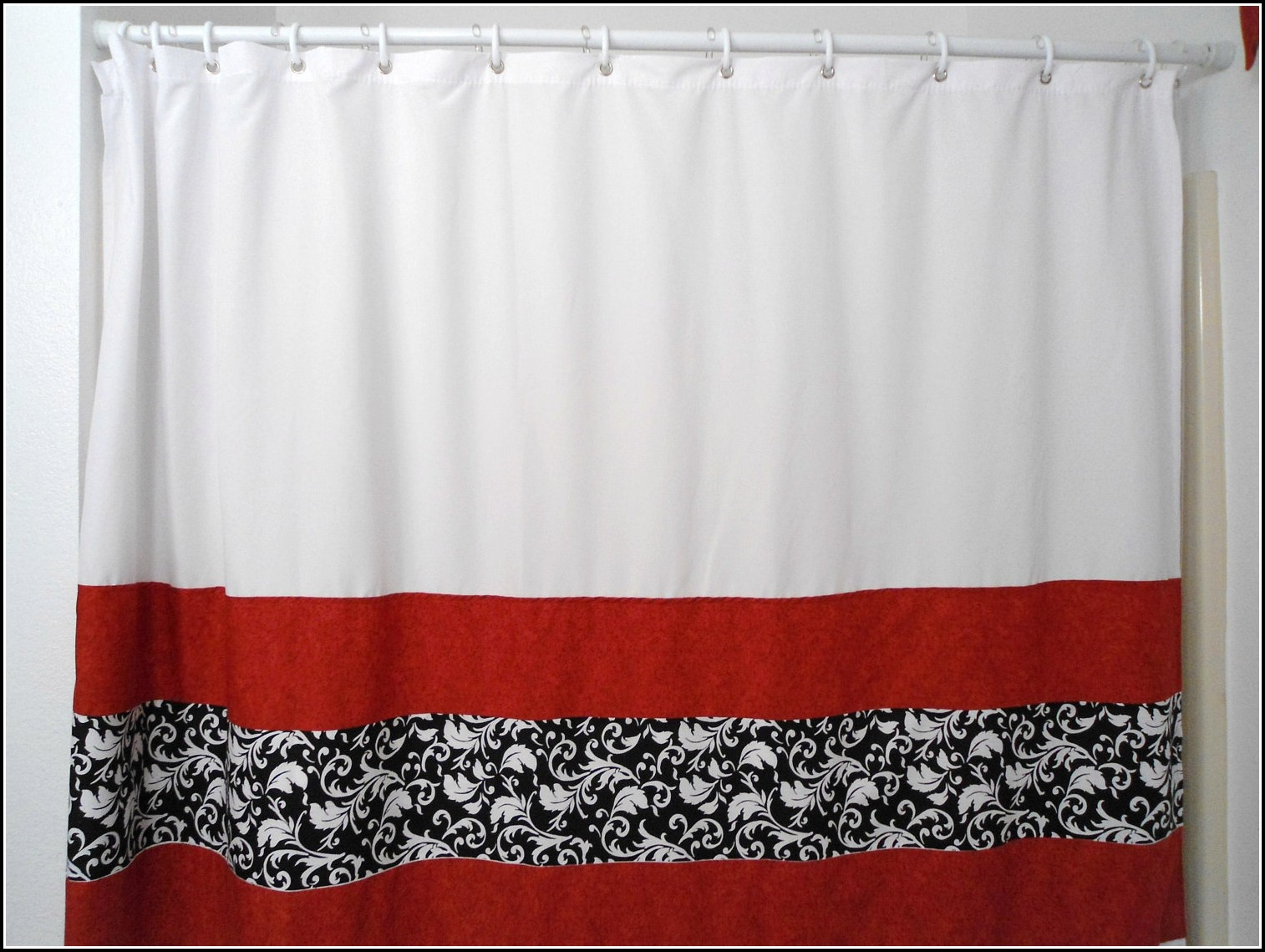 Red White And Gray Curtains
