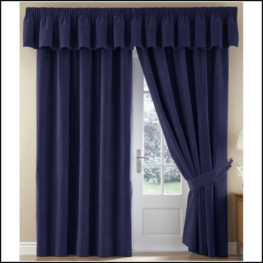 Sanela Navy Blue Velvet Curtains