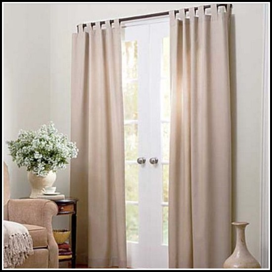 Sheer Linen Tab Top Curtains
