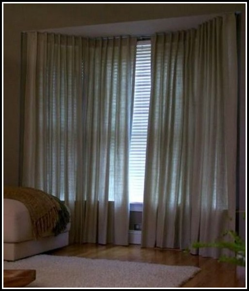 Spring Tension Curtain Rods Bronze
